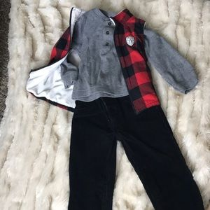 Carters winter corduroy/vest outfit